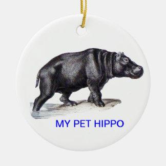 MEU HIPOPÓTAMO DO ANIMAL DE ESTIMAÇÃO ORNAMENTO DE CERÂMICA REDONDO