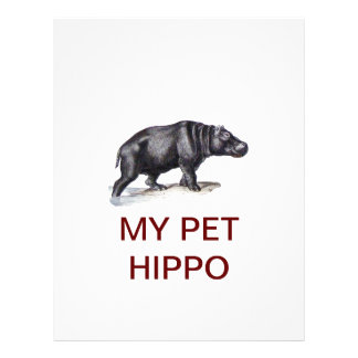 MEU HIPOPÓTAMO DO ANIMAL DE ESTIMAÇÃO PAPEIS DE CARTA PERSONALIZADOS
