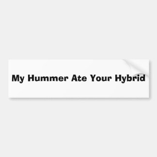 Meu Hummer comeu seu híbrido Adesivo Para Carro