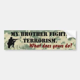 Meu irmão luta o terrorismo adesivo de para-choque