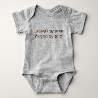 Meu jogo de Poopin unisex engraçado personalizado Body Para Bebê