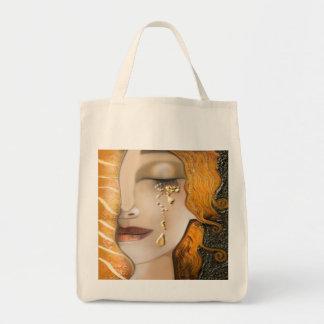 Meu Klimt Serie: Ouro Bolsa Tote