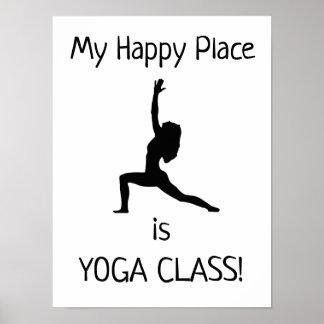 Meu lugar feliz - classe da ioga - poster