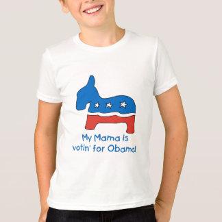 Meu Mama é Votin para as camisetas do miúdo de
