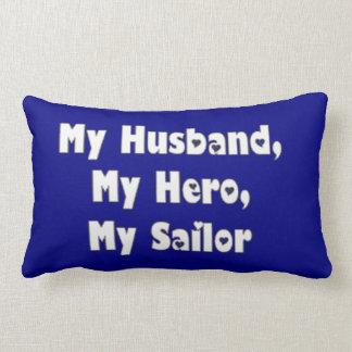 Meu marido, meu marinheiro, meu herói almofada lombar