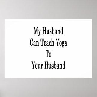 Meu marido pode ensinar a ioga a seu marido pôster