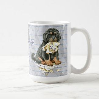Meu Mastiff tibetano comeu meu plano de aula Caneca De Café
