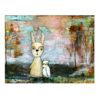 Meu melhor amigo, coelho do bebê, arte abstracta cartão postal