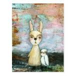 Meu melhor amigo, coelho do bebê, arte abstracta cartao postal