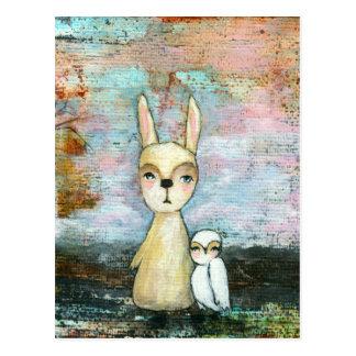 Meu melhor amigo, coelho do bebê, arte abstracta d cartao postal