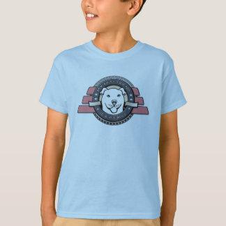 Meu melhor amigo é um emblema do pitbull - o azul camiseta