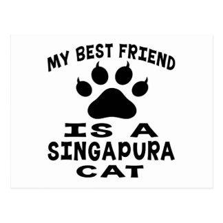 Meu melhor amigo é um gato de Singapura Cartões Postais