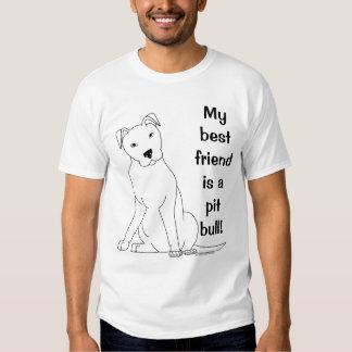 Meu melhor amigo é um pitbull t-shirts