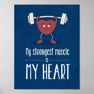 Meu músculo mais forte é meu poster do azul do