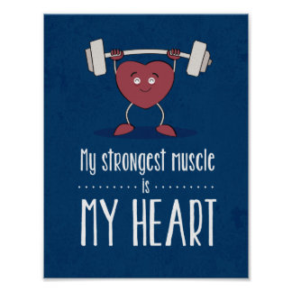 Meu músculo mais forte é meu poster do azul do pôster