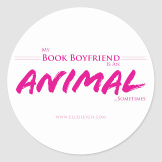 Meu namorado do livro… adesivo