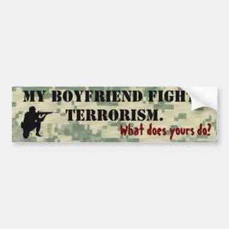 Meu namorado luta o terrorismo adesivo para carro