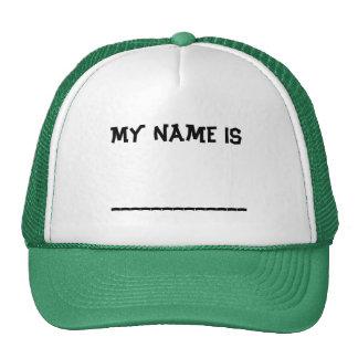 Meu nome é… bonés