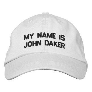 MEU NOME É JOHN DAKER - chapéu ajustável personali Boné Bordado