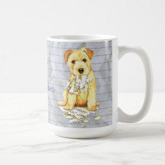 Meu Norfolk Terrier comeu meu plano de aula Caneca De Café