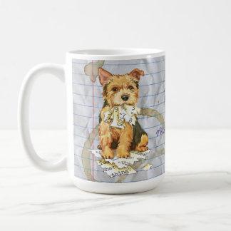 Meu Norwich Terrier comeu meu plano de aula Caneca De Café