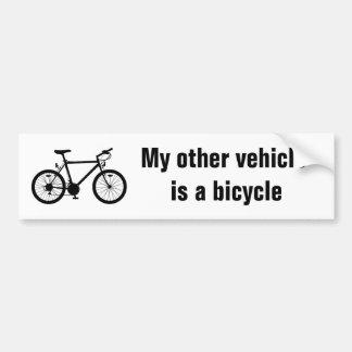 Meu outro autocolante no vidro traseiro da bicicle adesivo para carro