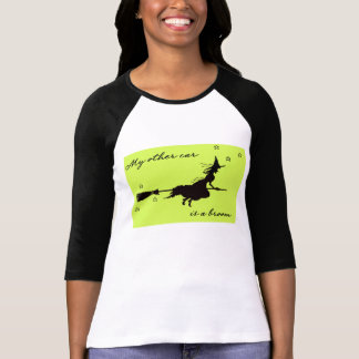 Meu outro Cae é uma vassoura o Dia das Bruxas Camiseta
