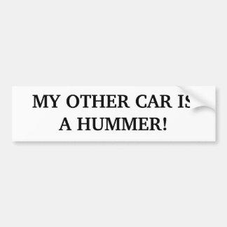 MEU OUTRO CARRO É HUMMER! ADESIVO PARA CARRO