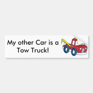 Meu outro carro é um caminhão de reboque! adesivos