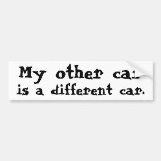 Meu outro carro é um carro diferente adesivo para carro