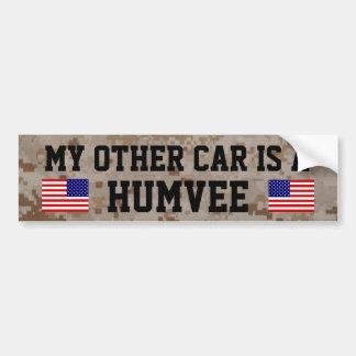 Meu outro carro é um Humvee (HMMWV) Adesivo Para Carro
