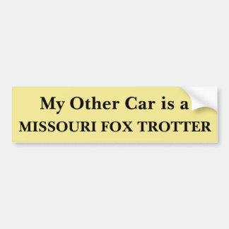 Meu outro carro é um trotador do Fox de Missouri Adesivo Para Carro