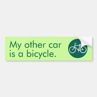 Meu outro carro é uma bicicleta adesivo para carro