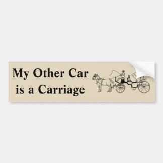 Meu outro carro é uma carruagem adesivo para carro