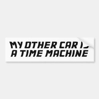 Meu outro carro é uma máquina do tempo adesivos