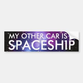 Meu outro carro é uma nave espacial adesivo para carro