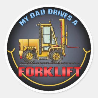 Meu pai conduz uma etiqueta dos miúdos do caminhão adesivo
