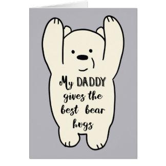 Meu pai dá o melhor cartão dos abraços