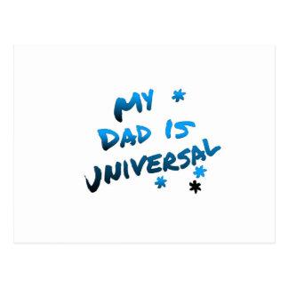 Meu pai é arte universal do texto cartão postal
