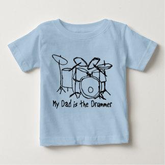 Meu pai é o baterista camiseta para bebê