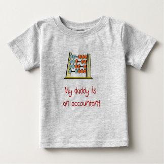 Meu pai é um t-shirt do bebê do contador camiseta para bebê