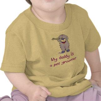 Meu pai é um t-shirt infantil do bebê do Groomer d