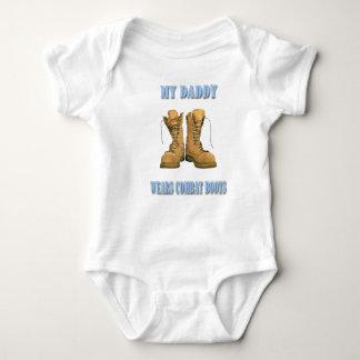 Meu pai veste o Creeper das botas de combate Body Para Bebê