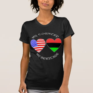 Meu país minha herança do afro-americano camiseta
