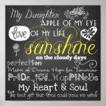 Meu poster do amor e da inspiração da filha