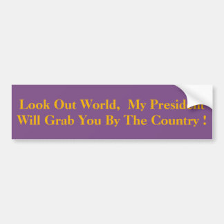 Meu presidente Agarramento Você o país! Adesivo Para Carro