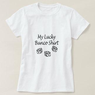 Meu preto afortunado da camisa de Bunco