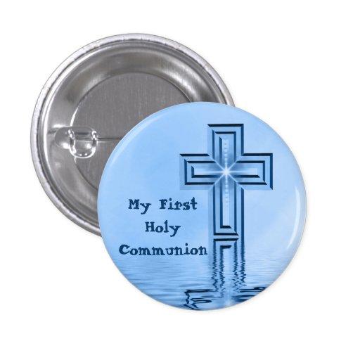 Meu primeiro botão do comunhão santamente pins