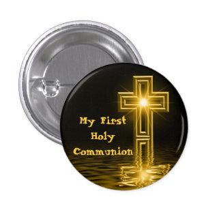 Meu primeiro botão do comunhão santamente bóton redondo 2.54cm