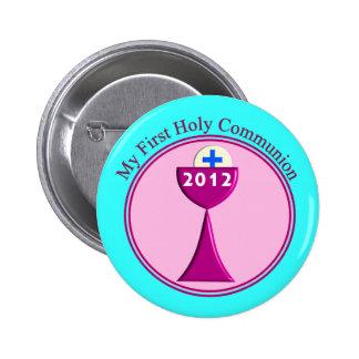 Meu primeiro botão do comunhão santamente bóton redondo 5.08cm